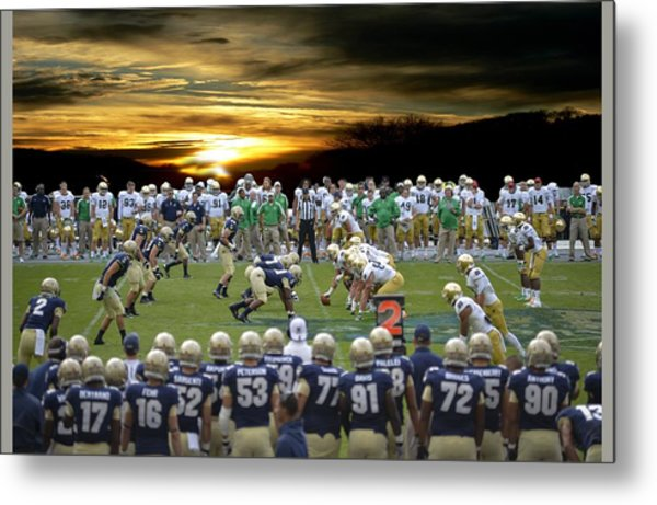 Football Field-notre Dame-navy Metal Print