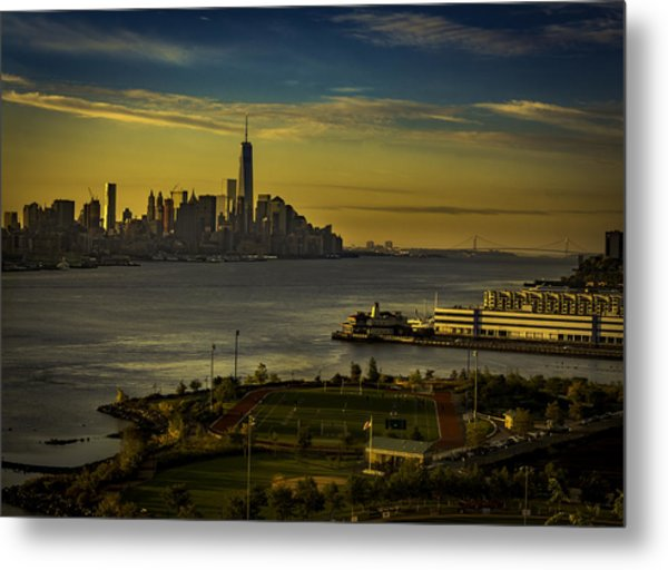 Football Field With A View Metal Print