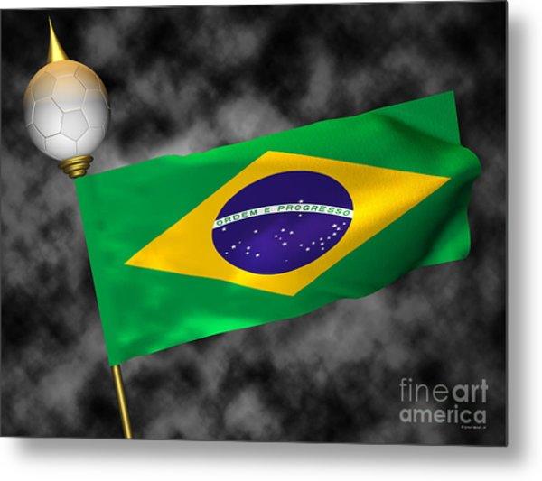 Football World Cup Cheer Series - Brazil Metal Print by Ganesh Barad