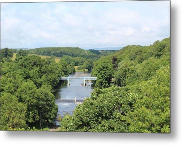 Footbridge Over The River Tees Metal Print