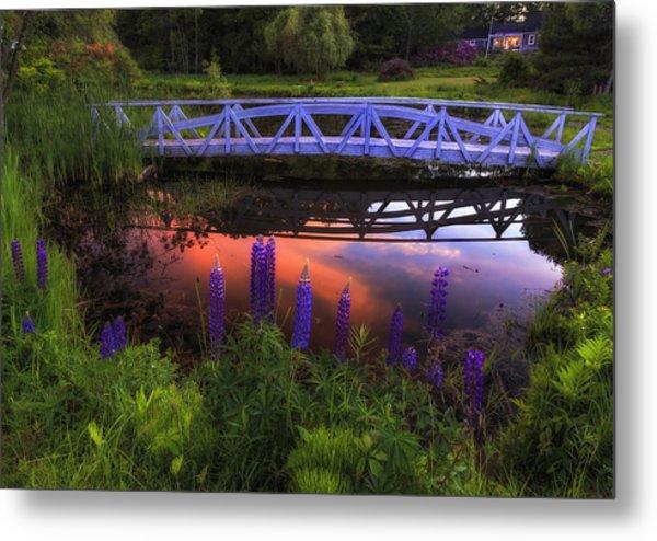 Footbridge Sunset Metal Print