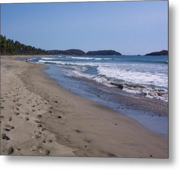 Footprint In The Sand Metal Print by James Johnstone