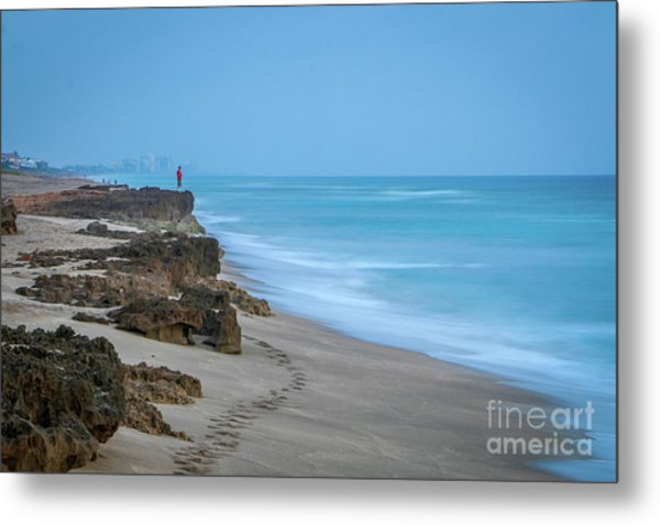 Metal Print featuring the photograph Footprints And Rocks by Tom Claud