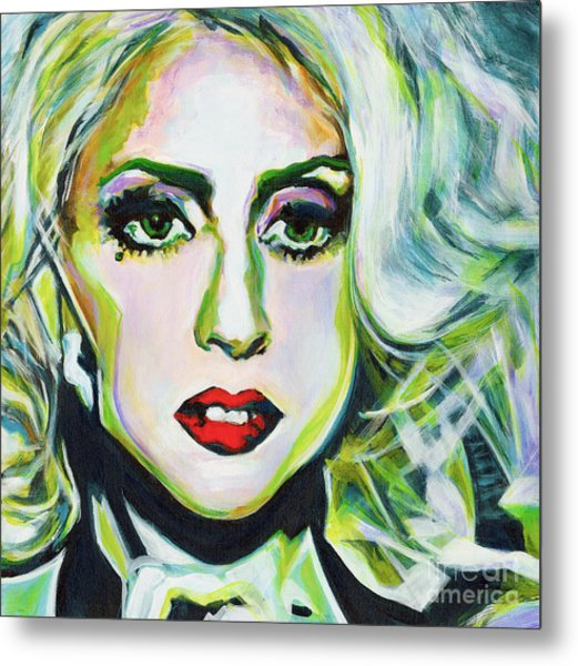 For Being Different Is Easy But To Be Unique Its More Complicated Thing. Lady Gaga Metal Print