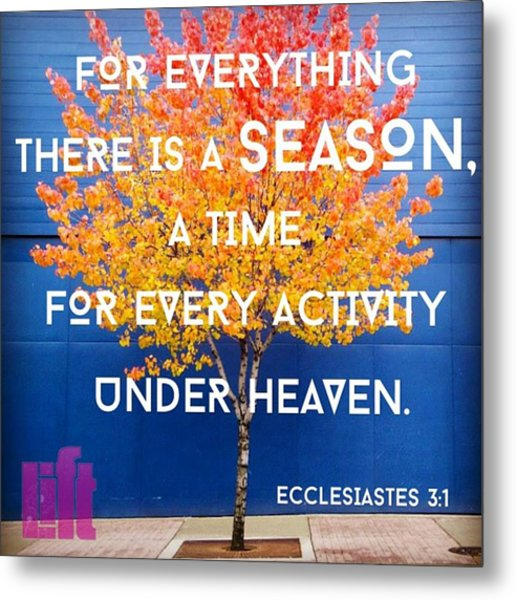 For Everything There Is A Season, A Metal Print