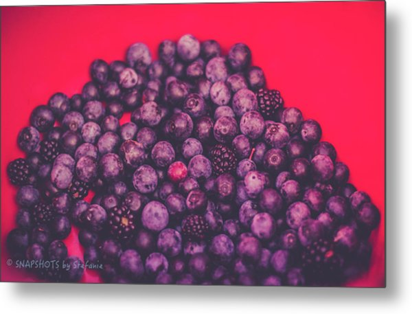 For The Love Of Berries Metal Print