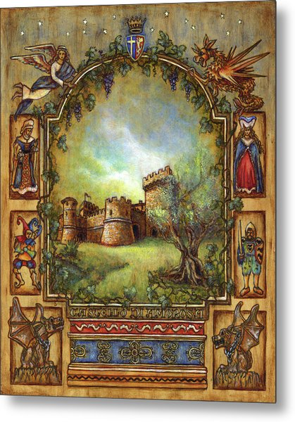 Metal Print featuring the painting For The Love Of Castles by Retta Stephenson