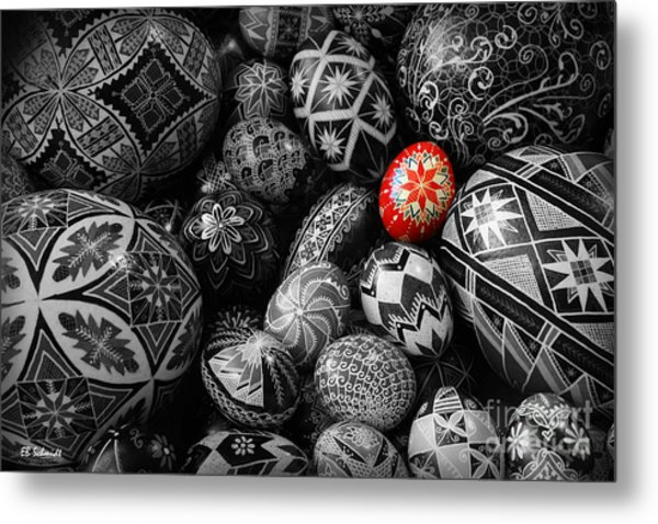 For The Love Of Pysanky Metal Print