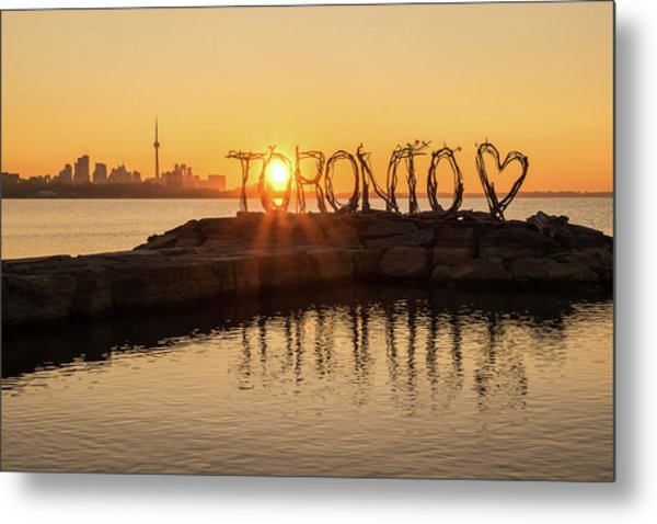 For The Love Of Toronto Metal Print