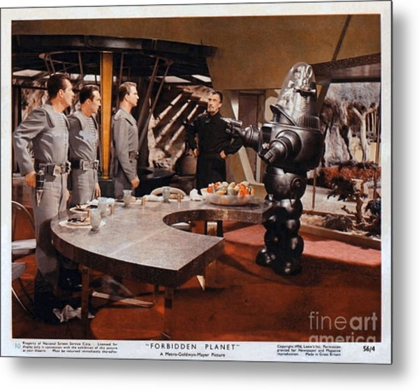 Forbidden Planet Amazing Poster Inside With Scientist Metal Print