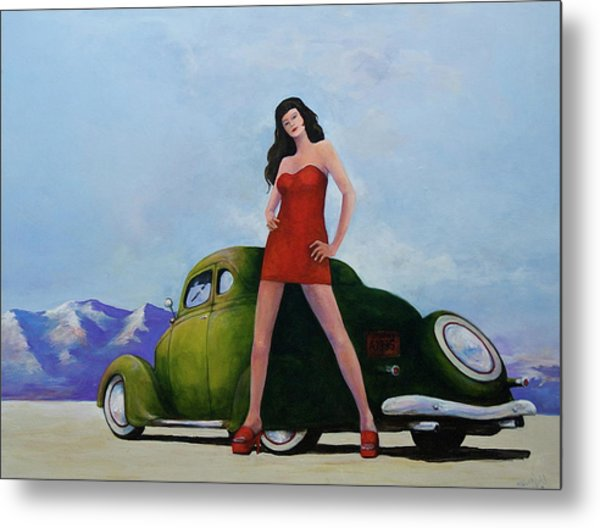Ford And Chick Metal Print by Peter Wedel