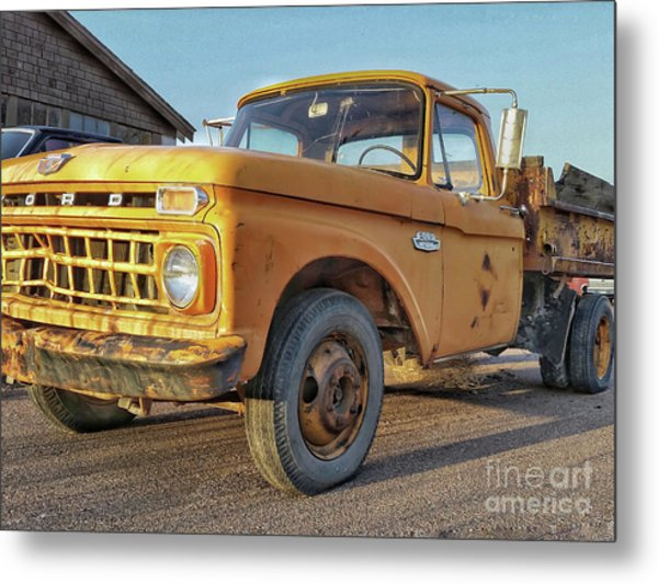 Ford F-150 Dump Truck Metal Print