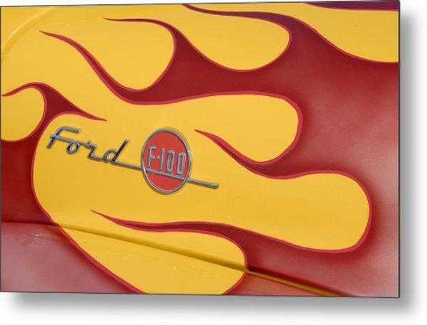 Ford F100 Metal Print