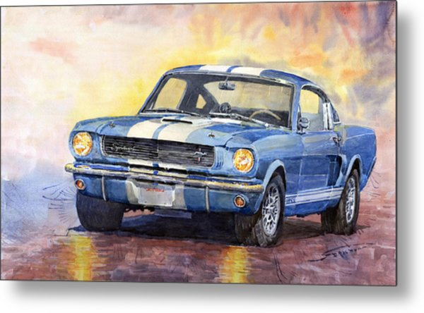 Ford Mustang Gt 350 1966 Metal Print