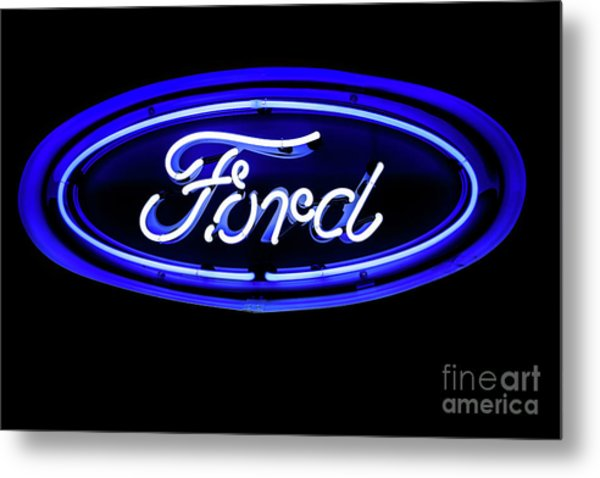 Ford Neon Sign Metal Print