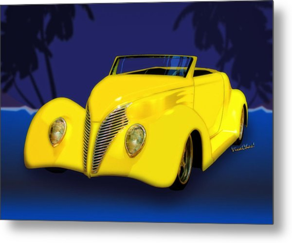 Ford Roadster 1937 In The Palms Metal Print