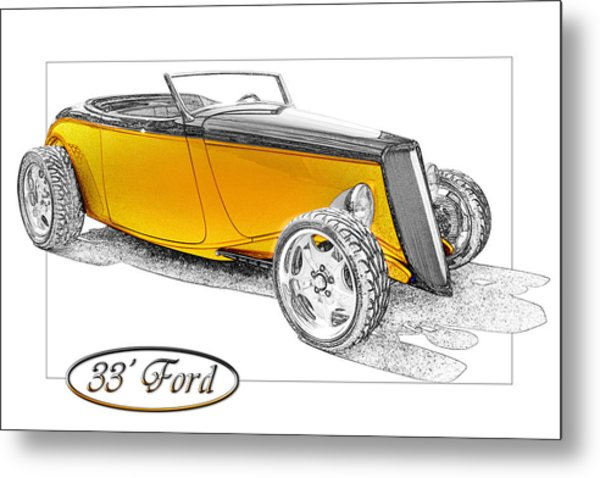 Ford Roadster Metal Print by Michael Gass