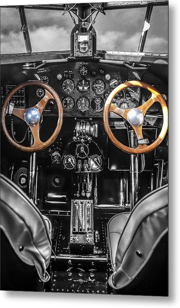 Ford Trimotor Cockpit Metal Print