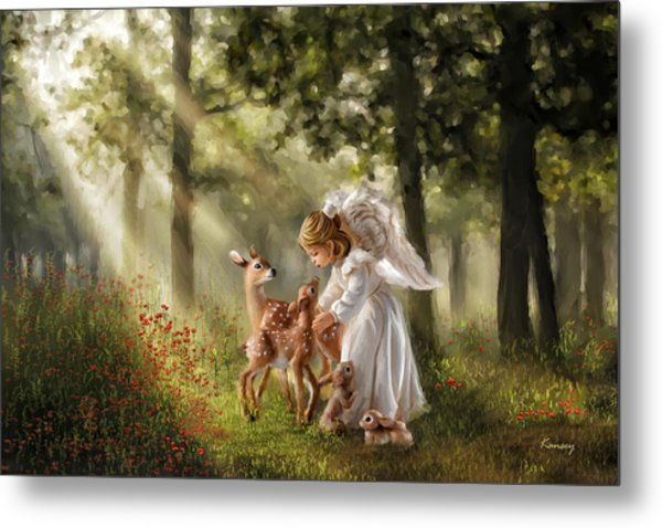 Forest Angel Metal Print