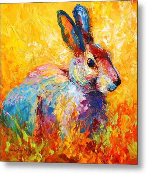 Forest Bunny Metal Print