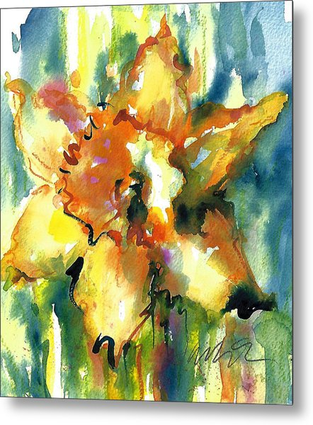 Forest Daffodil The Prayer Metal Print