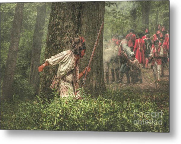 Forest Fight Metal Print