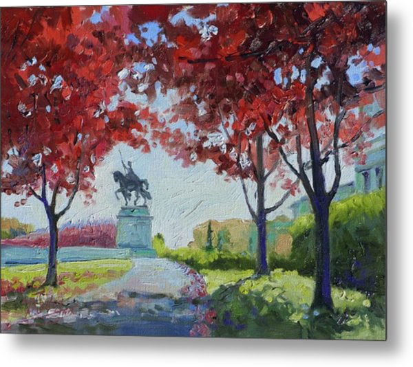 Forest Park Autumn Colors Metal Print