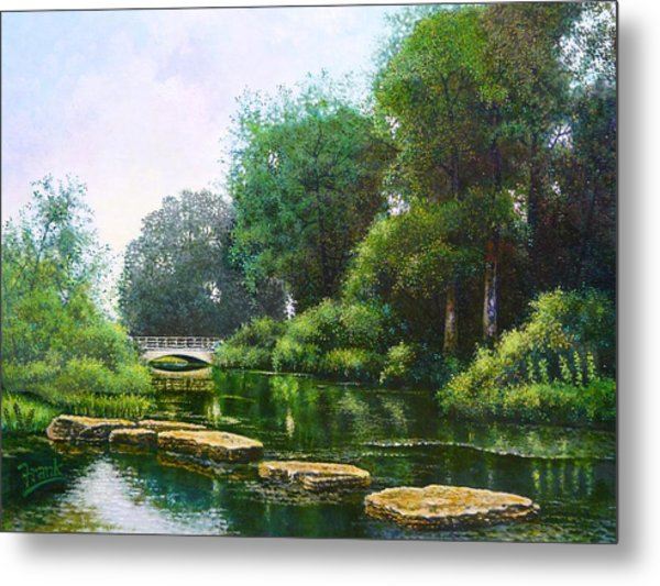 Forest Park Stepping Stones Metal Print