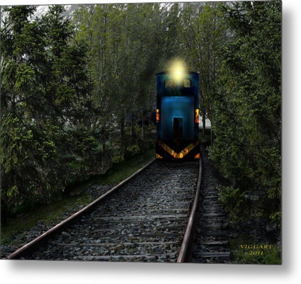 Forest Train Metal Print
