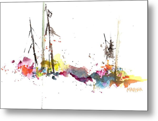 Forest Whimsey Metal Print