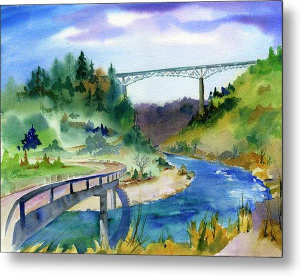 Foresthill Bridge #2 Metal Print