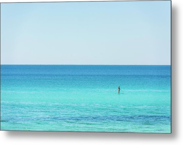 Forever Blue Gulf Paddle Metal Print