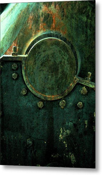 Forged In Green Metal Print