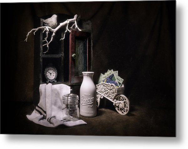 Forget Me Not Still Life Metal Print