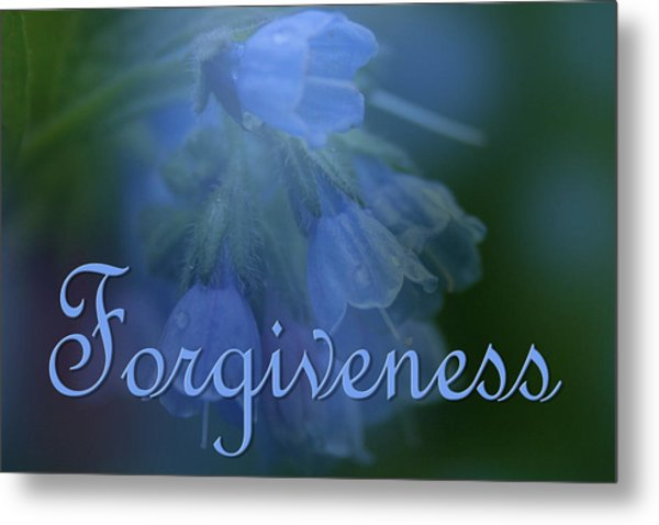 Forgiveness Blue Bells Metal Print