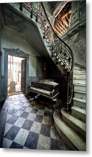 Forgotten Ancient Piano - Urban Exploration Metal Print