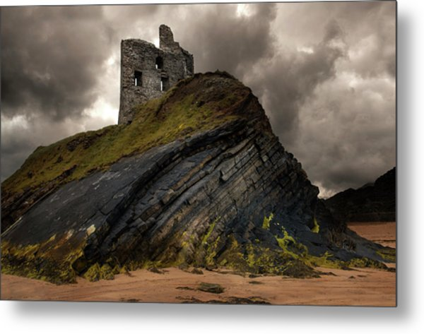 Forgotten Castle In Ballybunion Metal Print