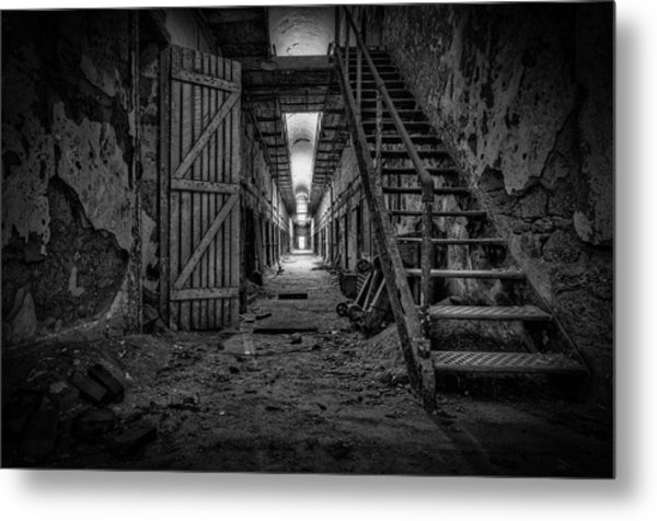 Forgotten Cell Block Metal Print