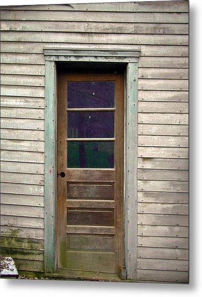 Forgotten Door Metal Print