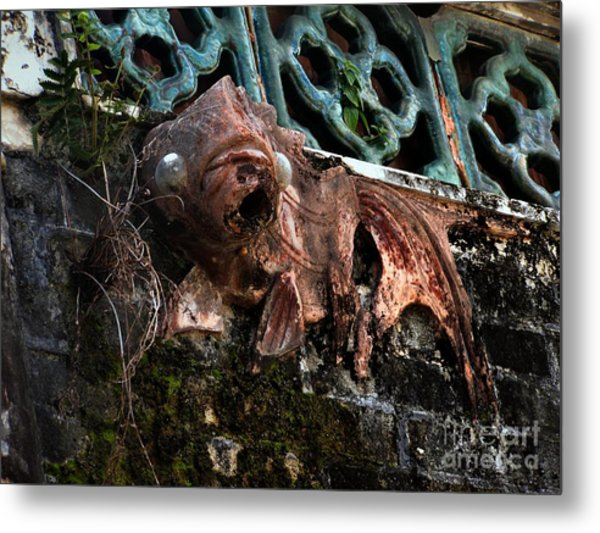 Forgotten Please Restore Me Goldfish Metal Print by Kathy Daxon