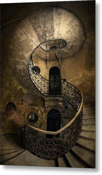 Forgotten Staircase Metal Print
