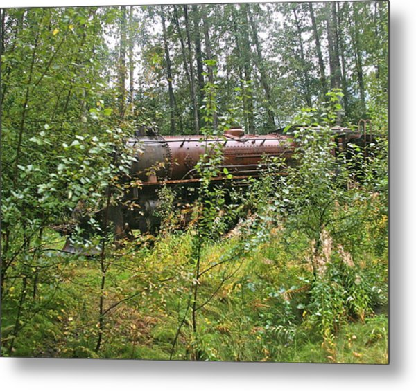 Forgotten Train Engine Metal Print by Robert Joseph