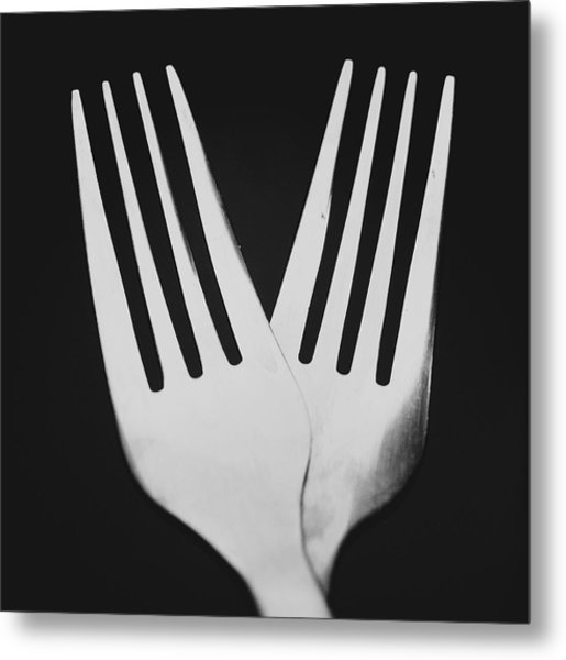 Forked Over Metal Print