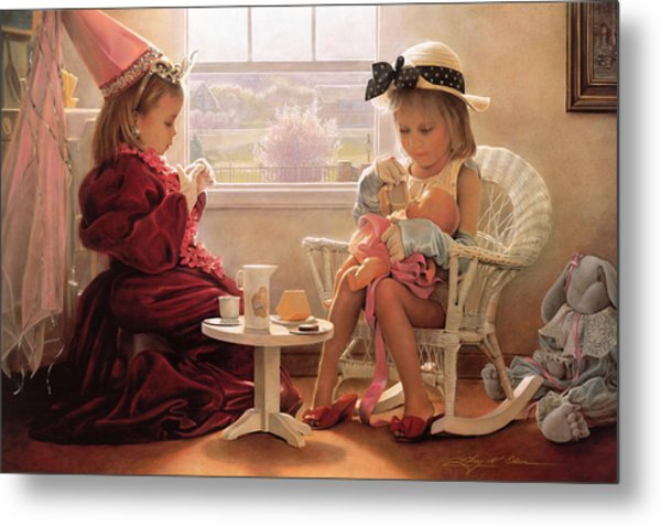 Metal Print featuring the painting Formal Luncheon by Greg Olsen