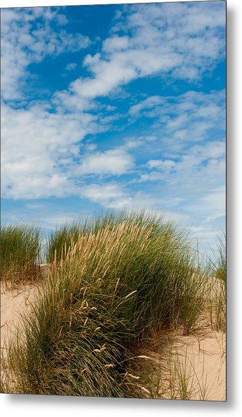 Formby Sand Dunes And Sky Metal Print