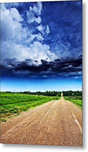 Forming Clouds Over Gravel Metal Print