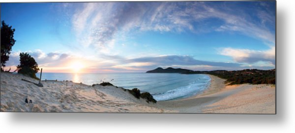 Forster One Mile Beach Metal Print