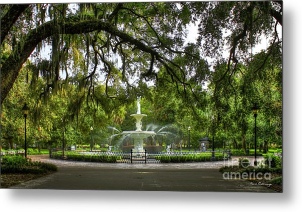 Forsyth Park Fountain Historic Savannah Georgia Metal Print