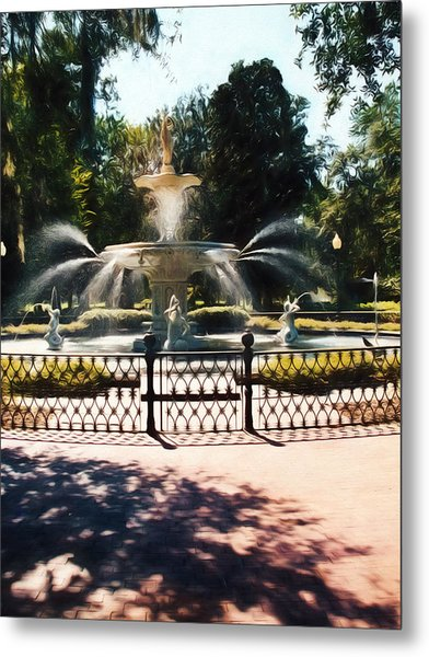 Forsyth Park Fountain - Savannah - Ga Metal Print
