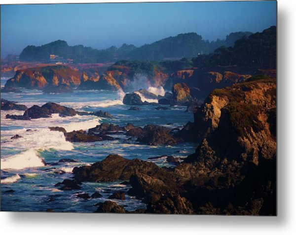 Fort Bragg Coastline Metal Print by Helen Carson